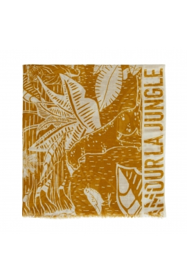 Printed Scarf African Landscape Yellow M