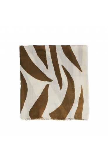 Printed Scarf Female Winter Khaki M