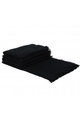 Blanket Scarves Winter Dots  Black L