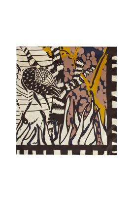 Square Scarf African Landscape Bright Multicolor M