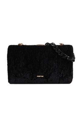 Hand Bag VELOUR Black M