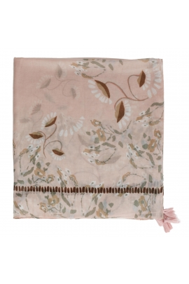 Printed Scarf African Landscape Pink M