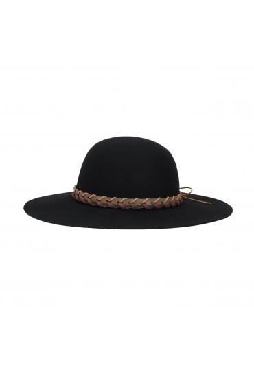 Rounded Crown Hat Black U