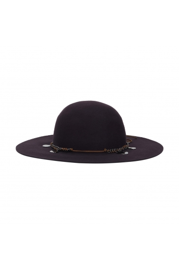 Rounded Crown Hat Aubergine U
