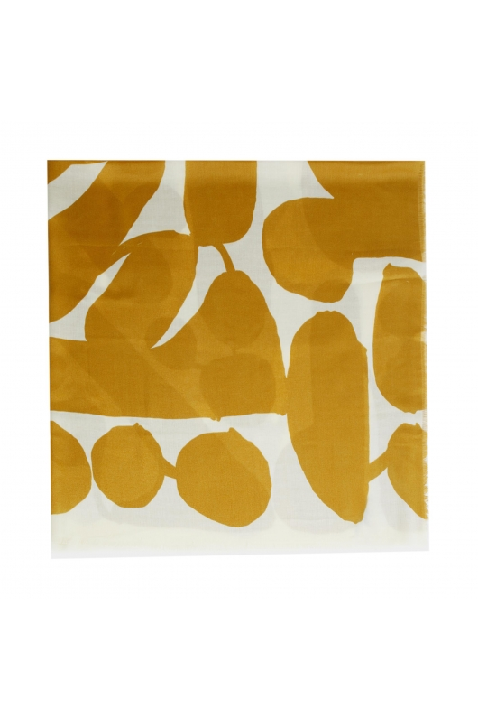Square Scarf African Landscape Yellow M