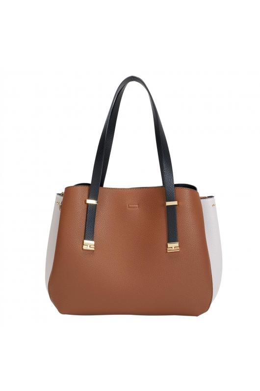 Shopper Bag KAREN Camel L