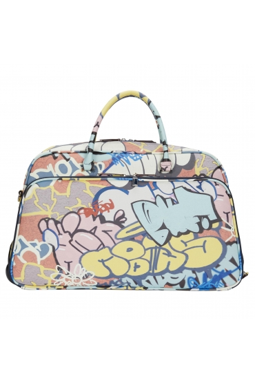 Travel Weekend Bag Graffiti Travel Blue L