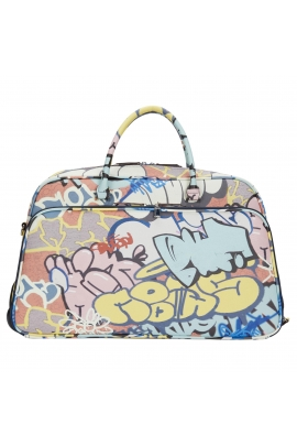 Travel Weekend Bag Graffiti Travel Blue L