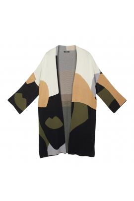 Kimono Delicate Spring Dark Multicolor U