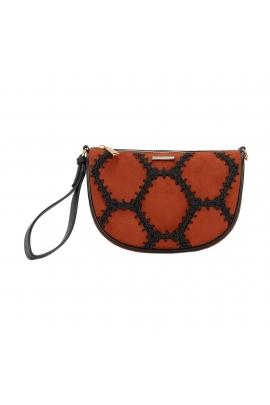 Crossbody Bag BAGUETTE Brick Red M