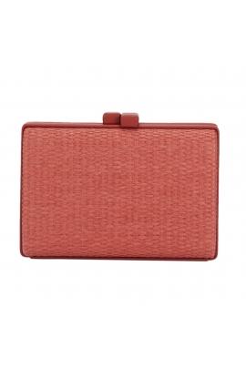 Box Bag PEACOCK Brick Red M