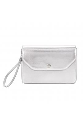 Envelope Bag button Silver M
