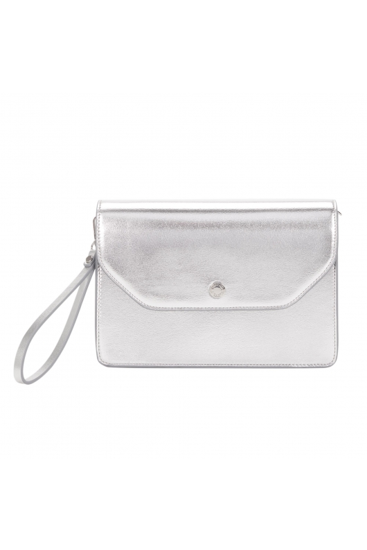 Envelope Bag button Silver M