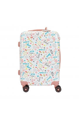 Trolley KISS TRAVEL Pink S