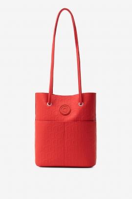 Geanta shopper 2 in 1, rosie, de umar, cu pouch interior