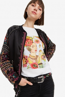 Embroidered Black Belt - Guindilla | Desigual