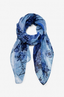 Blue and White Mandalas Scarf - Flirt | Desigual