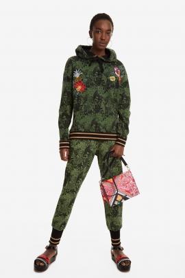 Geanta crossbody, multicolora, cu print hippie floral
