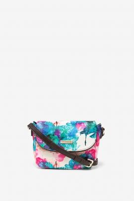Geanta crossbody, tip postas, cu print multicolor