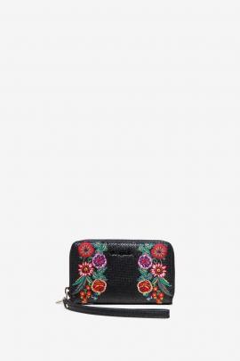 Embroidered Wallet - Mex Mini Zip | Desigual