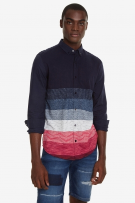 Coloured Bands Jacquard Shirt - Arnold | Desigual