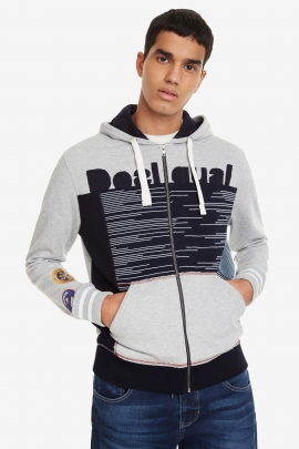 Hooded Patched Sweatshirt - Masal | Desigual