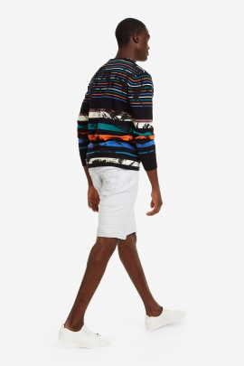 Multicolour Stripes Jumper - Damen | Desigual