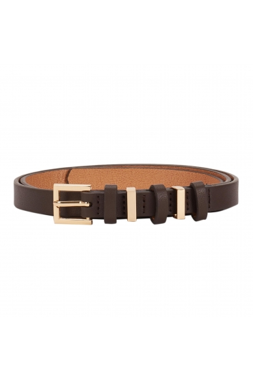 CUREA Narrow Belt Dark Brown U