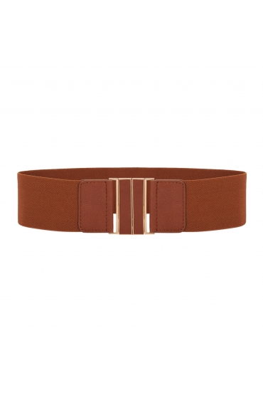 CUREA Waistband Belt Brown U