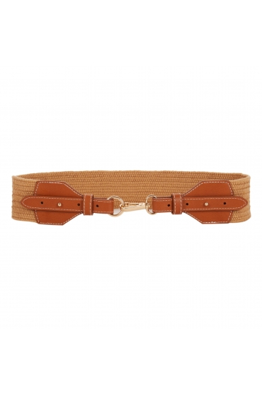 CUREA Waistband Belt Camel U