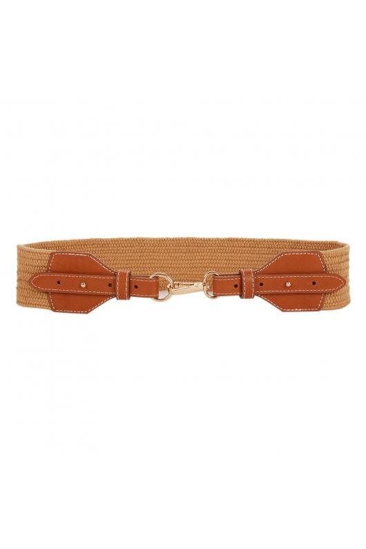 CUREA Waistband Belt Camel U
