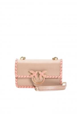 Geanta clutch tip plic, din piele roz, eleganta, cu lant