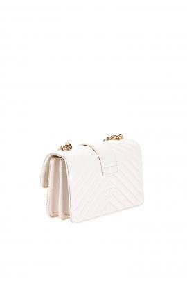 Geanta clutch tip plic, din piele roz matlasata, cu auriu