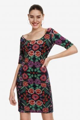 Slim Floral Dress - Garden | Desigual