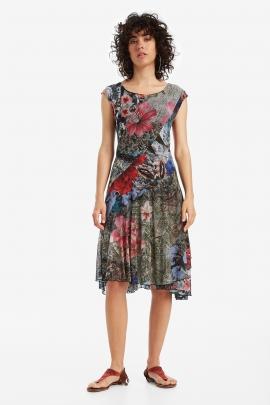 Asymmetrical Print Dress - Karuka | Desigual