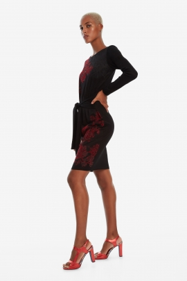 Black Dress with Bow - Duna | Desigual