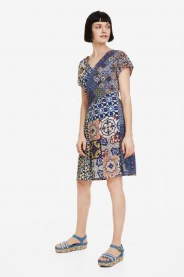Print V-neck Dress - Saya | Desigual