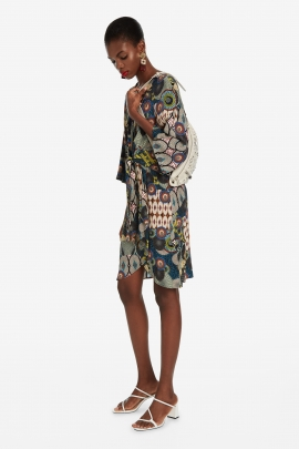 Dress with Abstract Flowers - Mina | Desigual