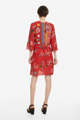 Red Print Dress - Glen | Desigual