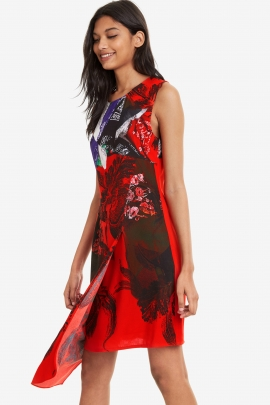 Floral Asymmetric Dress - Nagar | Desigual