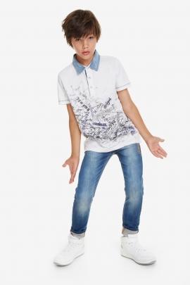 Ribbed Bolimania Polo Shirt - Bolimania | Desigual