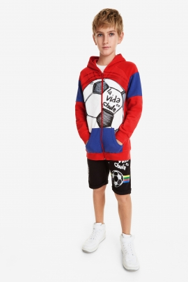 Hooded Patches Ball Sweatshirt - Jeff | Desigual