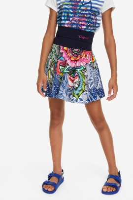Floral Print Flared Skirt - Segur | Desigual