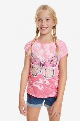 T-shirt with Pink Ombre - Juneau | Desigual