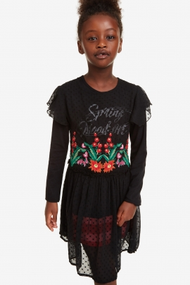 2-in-1 Embroidered Dress - Spring I Desigual