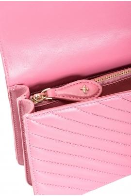 Geanta clutch tip plic, roz aprins, matlasata, de ocazie