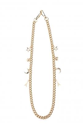 Accesoriu pentru geanta, cu lant auriu si charmuri