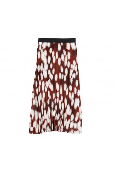 Skirt Female Winter Brick Red U