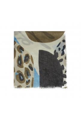 Printed Scarf Lilopa Blue M