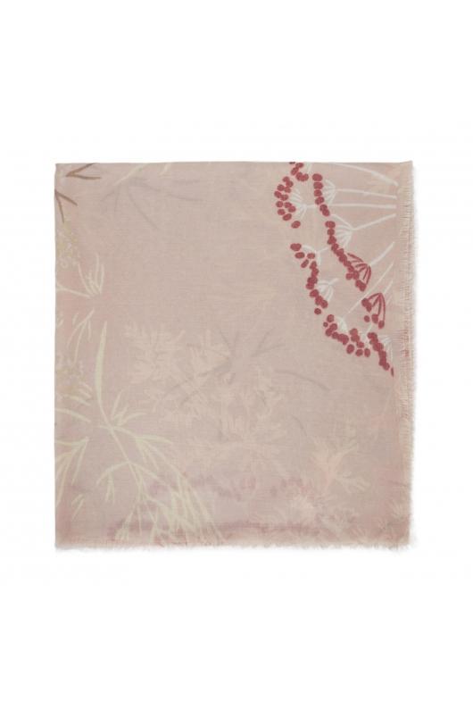 Printed Scarf SAVAGE SPARKLE Pink M